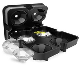 вино-мороженое Скидка 50 шт./лот Алмаз 3D кубик льда плесень чайник бар партии силиконовые лоток шоколад плесень конфеты плесень виски вино мороженое инструмент