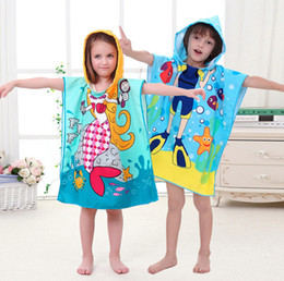 kids hooded beach towels. Cotton Hooded Bath Towel For Children Quick Dry Super Absorbent Kids Girls Boys Travel Beach Poncho Robe Towels