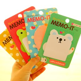 Wholesale Frog Decorations - 1X Kawaii Cartoon Frog Animals Memo Pads Sticky Notes Planner Writing Message Decorative Sticker Student Stationery Notepad