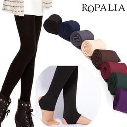 Wholesale Brushed Fleece - Women's Autumn Winter Thick Warm Legging Brushed Lining Stretch Fleece Pants Trample Feet Leggings Female Solid Color Leggings