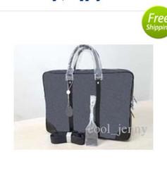 Wholesale Shoulder Bag Briefcase Men - High quality men fashion designer laptop bag cross body shoulder notebook business briefcase computer bag with Messenger bag 4020