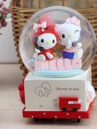 Music Box Rotary Snow Crystal Ball To Send Girls Valentines Day Childrens Birthday Gift