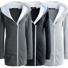 Женские модели длинное платье онлайн- Sari Dresses Women  Saree 2047 New Autumn And Winter Hot Explosion Models Zipper In The Long Coat Sweater Female