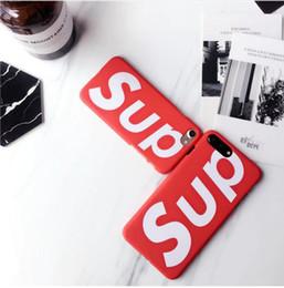 Meilleur cas d'iphone 5s en Ligne-Mode US street Sup Matte couvercle en plastique dur cas Japon marque de tendance pour iphone 5 5S SE 6 6S plus 7 7plus 8 8plus X XS XR Max 10 meilleurs cas