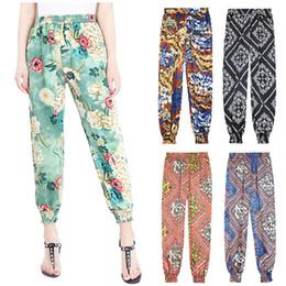 Wholesale womens capris xl - Harem Pants Women New Womens Trousers Ladies Harem Pants Floral Printed Bottoms Leggings