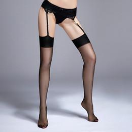 2019 biancheria sexy dei nylon Sexy calze di nylon femminile lingerie erotica coscia alta calze per le donne sexy lingerie collant media per reggicalze biancheria sexy dei nylon economici