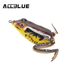 Iscas de peixe serpentinas on-line-Allblue Kopper Alta Qualidade Alvo Ao Vivo Sapo Isca 58mm / 16g Snakehead Isca Topwater Simulação Sapo Isca De Pesca Isca Soft Bass Y1890402