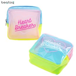 Bentoy Brand Jelly Cosmetic Bag For Make up Waterproof Patchwork Travel  Wash Case Women PVC Pouch Lucency Travel Toiletry Bag 263817806e1e