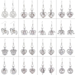 Wholesale White Wishing Trees - Love Wish Pearl Cages Locket Dangle Earrings Hollow Out Oyster Freshwater Pearl Elephant Tree Of Life Love DIY Mother's Day Jewellery