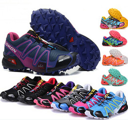 Wholesale High Walk - High Quality Women's Hiking Boots New Zapatillas Speedcross 3 Running Shoes Walking Ourdoor Sport shoes Athletic Shoes Size 36-41