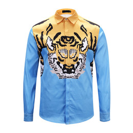 Бесплатная доставка 2018 Италия новый Medusa рубашка мужская с длинными рукавами 3D печати высокого качества мужская мода марка одежды рубашки M-XXL от