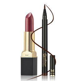 wearing dark lipstick Coupons - 12 Colors Cosmetics Makeup Lip Gloss 0609 Long Lasting Waterproof Easy to Wear Velvet Mae Lipstick & Eye Liner Maquiagem