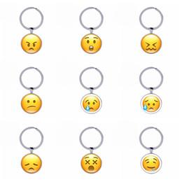 Wholesale Men Jewelry Packaging - Emoji Keychain interesting Face Expression Mobile phone emoji packaging Creative Keychain Gifts Women Jewelry 2018 Trendy Wholesale