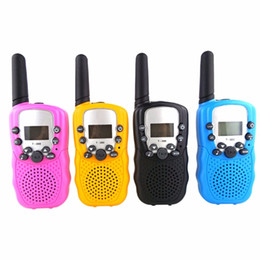 Wholesale led torch toys - UHF Two Way Radio Portable Handheld Children's Walkie Talkie with Built-in Led torch Mini Toy Gifts for Kids Boy Girls