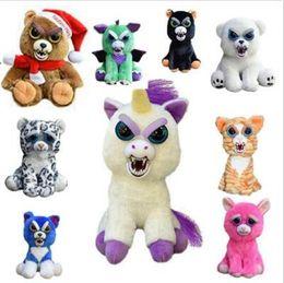 Wholesale Multi Change - 20cm One Second Change Face Feisty Pets Animal Plush Toys Cartoon Monkey Unicorn Stuffed Toy for Baby Christmas Gifts CCA8514 20pcs