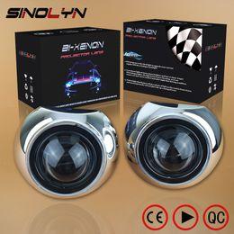 luz de advertência do tejadilho Desconto Car Styling Mini 2.5 inch HID Bixenon Projector Headlight Lens Automobiles Headlamp Lenses Retrofit Kit H1 Iris Shrouds H4 H7
