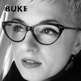 senhoras nova moda óculos Desconto BUKE New 2018 Moda Cat Eye Óculos Claros  Mulheres Do Vintage e2144c6a15