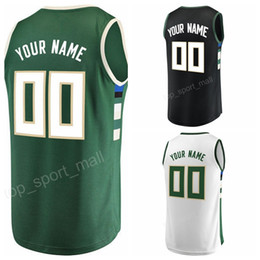 Wholesale black makers - Matthew Dellavedova 8 Print Custom Basketball Jerseys 7 Thon Maker 11 Brandon Jennings 44 Tyler Zeller Jersey Men Black Green White Uniform
