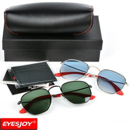 Wholesale women collection - New Cooperation Brand Designer Sunglasses Hexagonal Metal Frames Red Collection Sunglasses Fashion Sunglasses for Men With Exclusive Gift bo