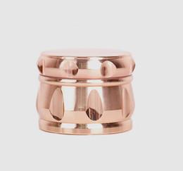 encendedores de oro Rebajas Grinder de cuatro niveles NEW ROSE GOLD 63mm encendedor de cigarrillos de aleación de zinc manual para fumar