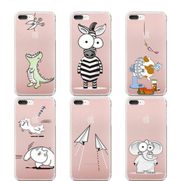 Wholesale Iphone Elephant Silicone Case - Cute Animal Fly Horse Unicorn Elephant Phone Case Cover For iPhone X 6 6s 7 7Plus 8 Plus Transparent TPU