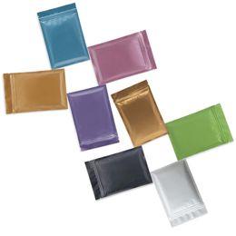 Bolsas de papel de aluminio de múltiples colores que se pueden volver a sellar Zip Mylar bolsas de papel de aluminio bolsa de embalaje bolsas de olor de olor desde fabricantes