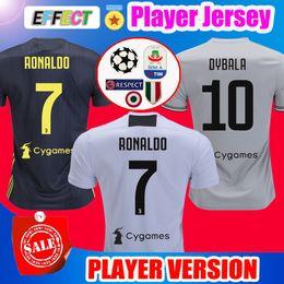 dbc1243f8 Top Thailand Player Version 2018 RONALDO JUVENTUS Soccer Jerseys 18 19 JUVE  Home 2019 DYBALA PJANIC Camisetas de Futbol Football Shirts