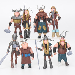 Wholesale Train Sets For Kids - 8pcs  Set 10 -13cm How To Train Your Dragon 2 Figurines Pvc Action Figures Classic Toys Kids Gift For Boys Girls Children