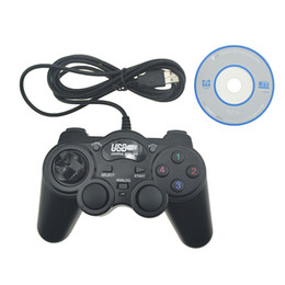 Wholesale Joypad For Computer - Wired USB 2.0 Black Gamepad Joystick Joypad Gamepad Game Controller For PC Laptop Computer