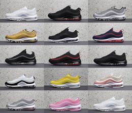 Großhandel 2018 Nike Air Max 97 UNDEFEATED OG Undftd Schwarz Geschwindigkeit Weiß Sliver Top Qualität Mens 97s Bullet Laufschuhe Für Frauen Undftds