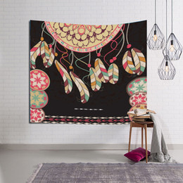 Wholesale Decoration Beach - Tapestry 3D Printed Dreamcatcher 150x130cm Wall Blankets Beach Towel Decoration Wall Tapestry Wall Hanging Mandala Blanket