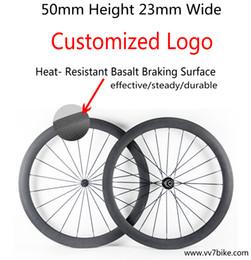 rodas de estrada de carbono china Desconto China 50mm carbono estrada de superfície de freio de basalto rodas de bicicleta clincher bicicleta de estrada de bicicleta rodado preto rodas de ciclismo cor decalques frete grátis