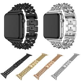 Canada Bracelet en acier de chaîne de cow-boy pour Apple Watch Bracelet Bracelet pour la série iWatch 1 2 3 Bracelet 42mm 38mm Offre