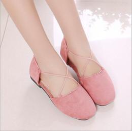 Wholesale Models Girls Korean - Girls' single shoes children's fashion casual shoes sets foot Korean fashion wild shoes tide 2018 spring autumn models