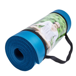 Wholesale Green Picnic - 10MM NBR Non-slip Yoga Mats For Fitness Brand Pilates Pads Sport Mats Outdoor Camping Pads Picnic with Yoga Bag Strap