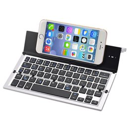 Wholesale mobile bluetooth wireless keyboard - COOLCOLD GK608DC Bluetooth wireless slim folding keyboard Three systems dual channel mobile tablet aluminum alloy