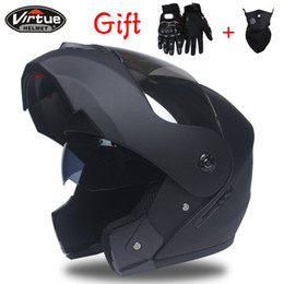 motorcycle helmets full face flip up Promo Codes - Best Sales Safe full face helmet motorcycle helmet Flip up with inner sun visor everybody afable Size:S,M, L, XL Y