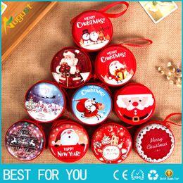 2019 decorações vermelhas em prata de mesa de natal Bolsa De Moeda De Natal Bolsa Chave Bolsa De Fones De Ouvido Bolsa Zip Pequena Carteira De Natal Novo