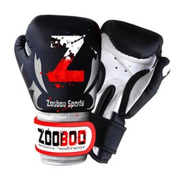 fighting training gear Promo Codes - Zooboo Mma Muay Thai Boxing Gloves Sanda Kungfu Wushu Women Men Fighting Sandbag Training Guantes De Boxeo Fitness Glove Gear