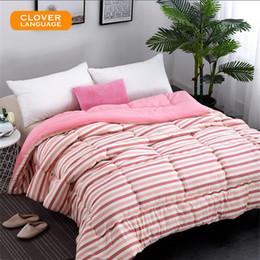Wholesale Thick Cotton Comforters - CLOVER LANGUAGE Home Textiles Comforter Blanket Thick Quilt Winter Blanket Chemical Fiber Comforters for Winter Cotton Cloth