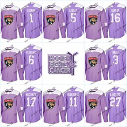 Youth 5 Aaron Ekblad Purple Fights Cancer Practice Florida Panthers 1  Roberto Luongo 16 Aleksander Barkov 68 Jaromir Jagr Hockey Jerseys f0fee48b9