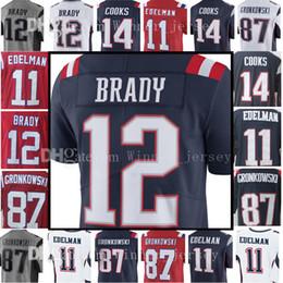 Wholesale Men S Toms - 12 Tom Brady 87 Rob Gronkowski Jersey Men's 14 Brandin Cooks 11 Julian Edelman 15 Chris Hogan Jerseys Embroidery and 100% Stitched Adult