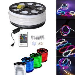 Wholesale Fcc Digital - Holiday Lighting 10X20mm LED Digital Neon Flex IP65 Waterproof 110V 220V RGB Neon Decoration Light Colors Changeable