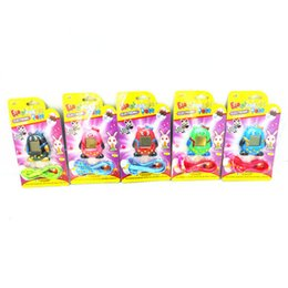 Wholesale Mini Plastic Penguin - Hot Selling Mini Plastic Electronic Digital Pet Penguins Funny Toy Virtual Cyber Pet 5 Colors Handheld Game Machine Child Gift