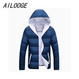3b4655bc499 AILOOGE Men Winter Jacket Fashion Hooded Thermal Down Cotton Parkas Male  Casual Hoodies Windbreaker Warm Coats 5XL