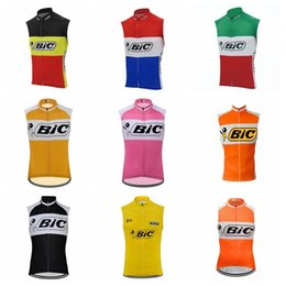 Wholesale bike vests - 2018 NEW Bic team Cycling Sleeveless jersey Vest man Racing Bicycle Clothing Breathable Bike sportwear F2011