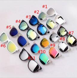 Wholesale Sunglasses Transparent Men - Retro star model coated sunglasses men transparent mirror sunglasses ladies brand designer sunglasses 11 Colors YYA1272