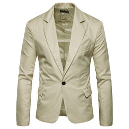 Wholesale Blazers Jackets For Men - Jacket Blazers Blazer Men Suits For Men Pure Colour New Fashion X01