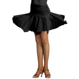sexy ballroom dance skirts Promo Codes - Black Fashion Milk Fiber sexy Latin Dance short Skirt for Woman female,Ballroom costume performance wear Practice dress 2091