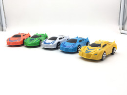 Wholesale Returned Toys Wholesale - Car model 5 style plastic Toys car 10 CM return power car supercar, Lamborghini, 5 colors. Free shipping, wholesale